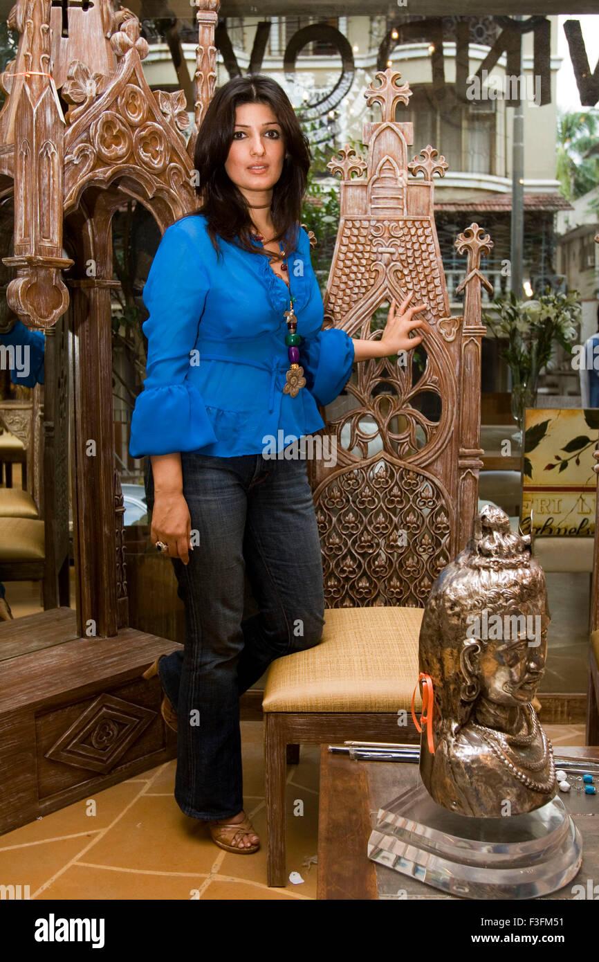 Bollywood Schauspielerin Tina Khanna oder Twinkle Khanna Stockbild
