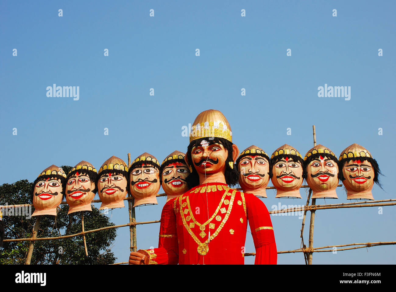 Zehn leitete Statue der Dämon Ravana Stockbild