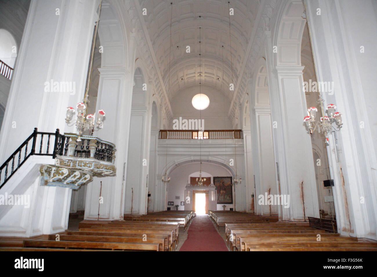 Se-Kathedrale; 1528 n. Chr. erbaute Kirche; UNESCO-Weltkulturerbe; Old Goa; Velha Goa; Indien Stockbild