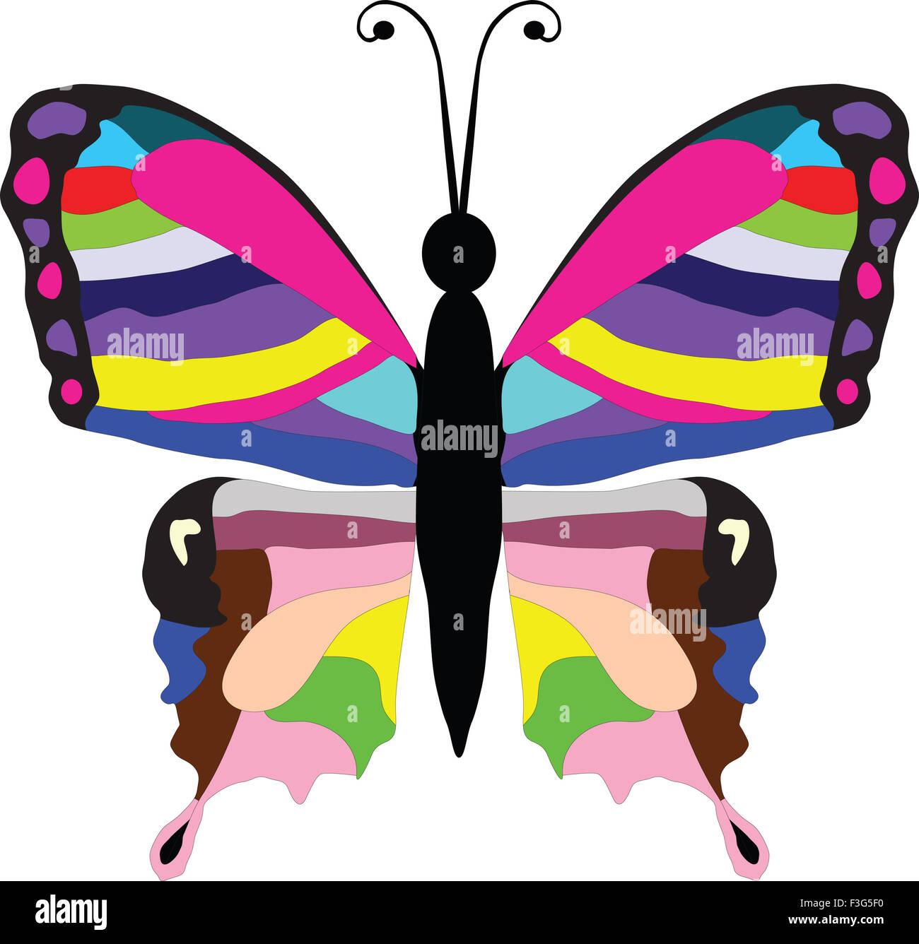 Rainbow Butterfly Vector Stockfotos & Rainbow Butterfly Vector ...