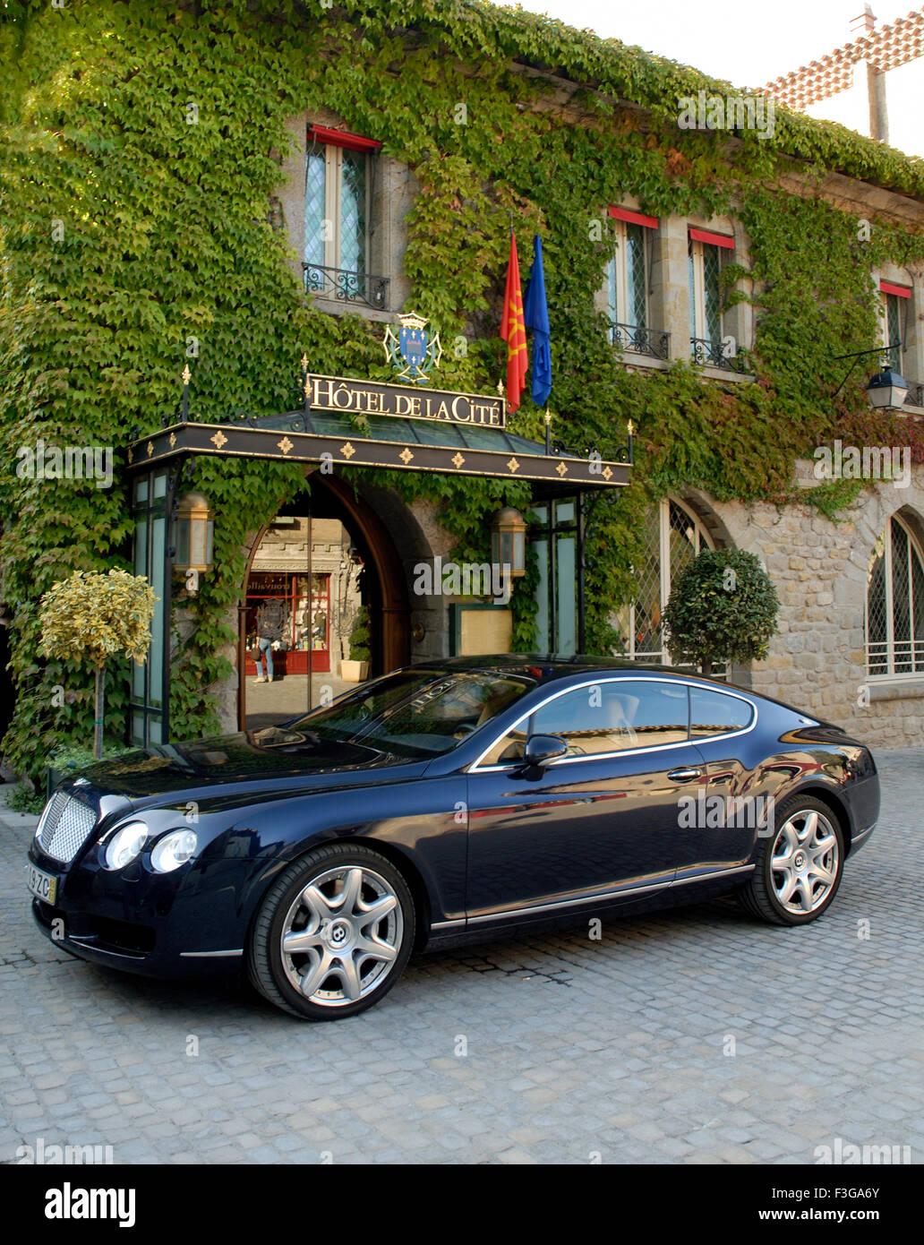 Carcassonne Bentley GT; Frankreich Stockbild