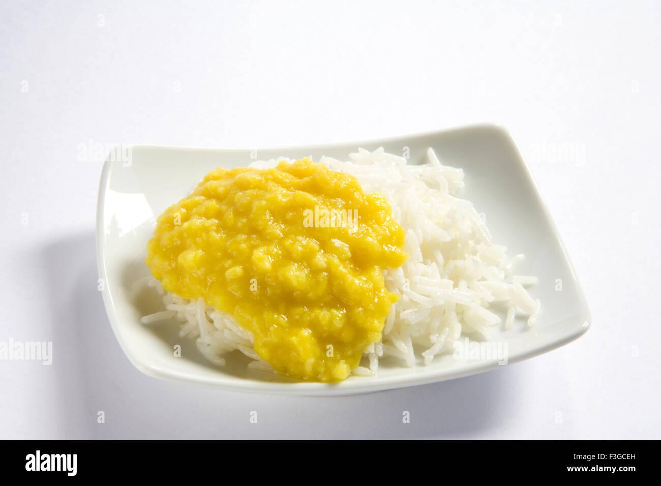 Vegetarische indische Küche dal Bhath Kochen Basmati Reis Bhath ...