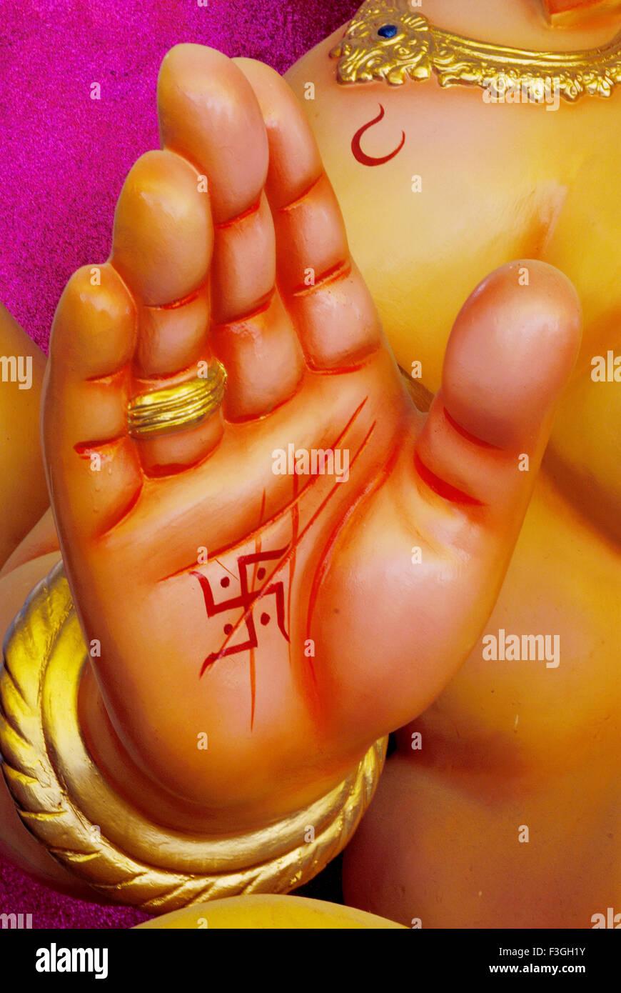 Idol Von Lord Ganesh Ganpati Elefanten Unter Der Leitung Gottes Oder