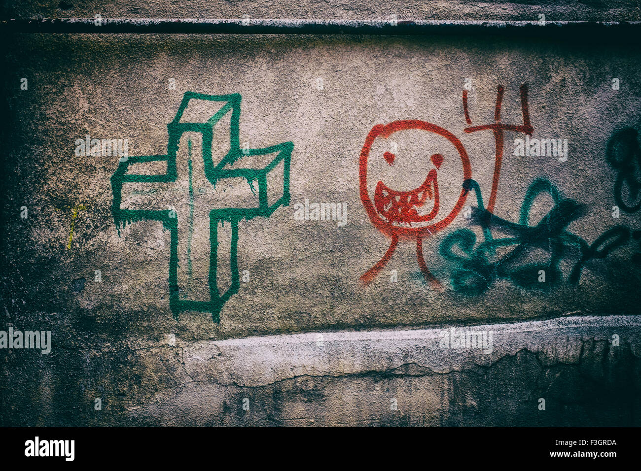 graffiti walls stockfotos graffiti walls bilder alamy. Black Bedroom Furniture Sets. Home Design Ideas