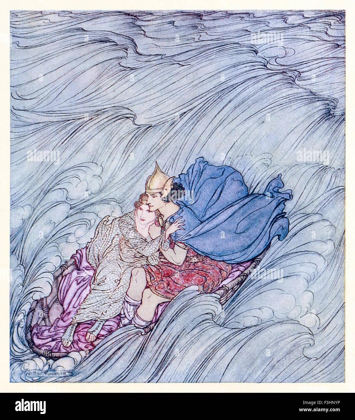 """""""Die Wellen der Welten schien an ihnen vorbei in einem riesigen grünen Teppich zu wirbeln' aus 'Becuma Stockbild"""