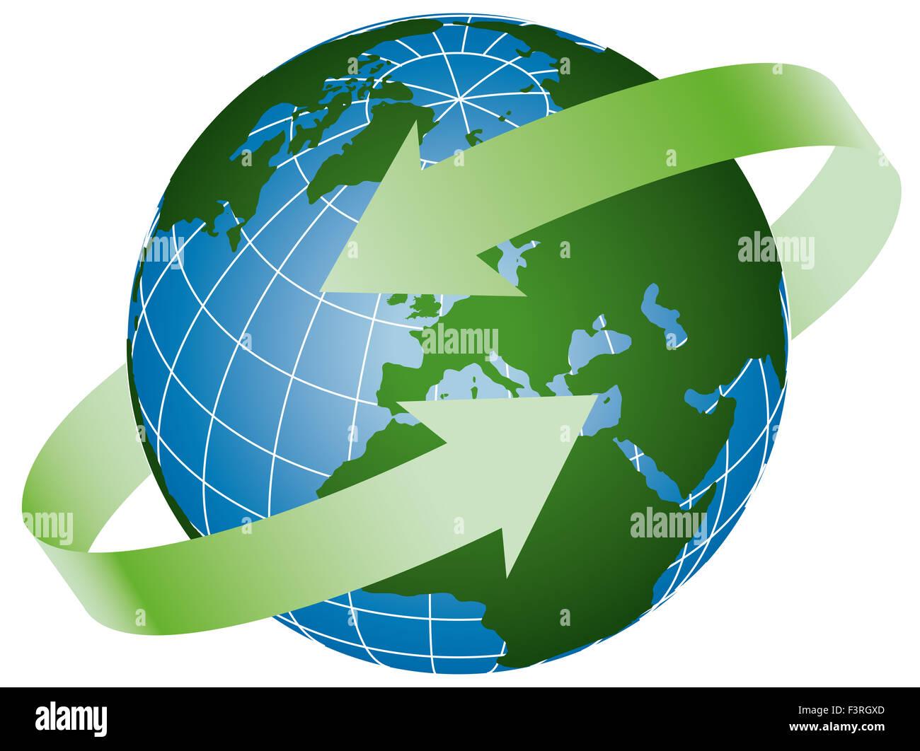 Global-logo Stockbild