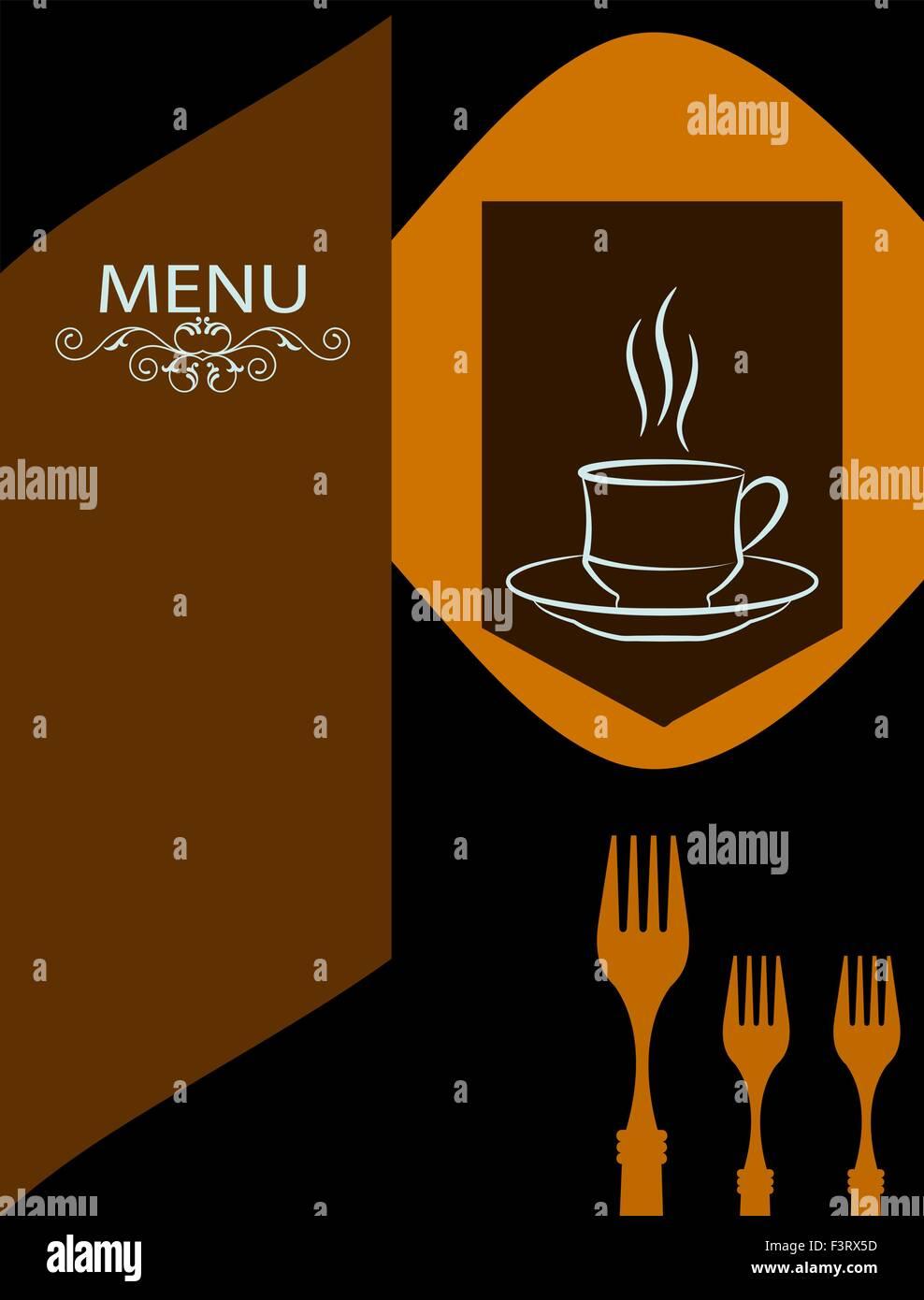 Kaffee-Menü Karte Design Vorlage Vektorgrafiken Vektor Abbildung ...