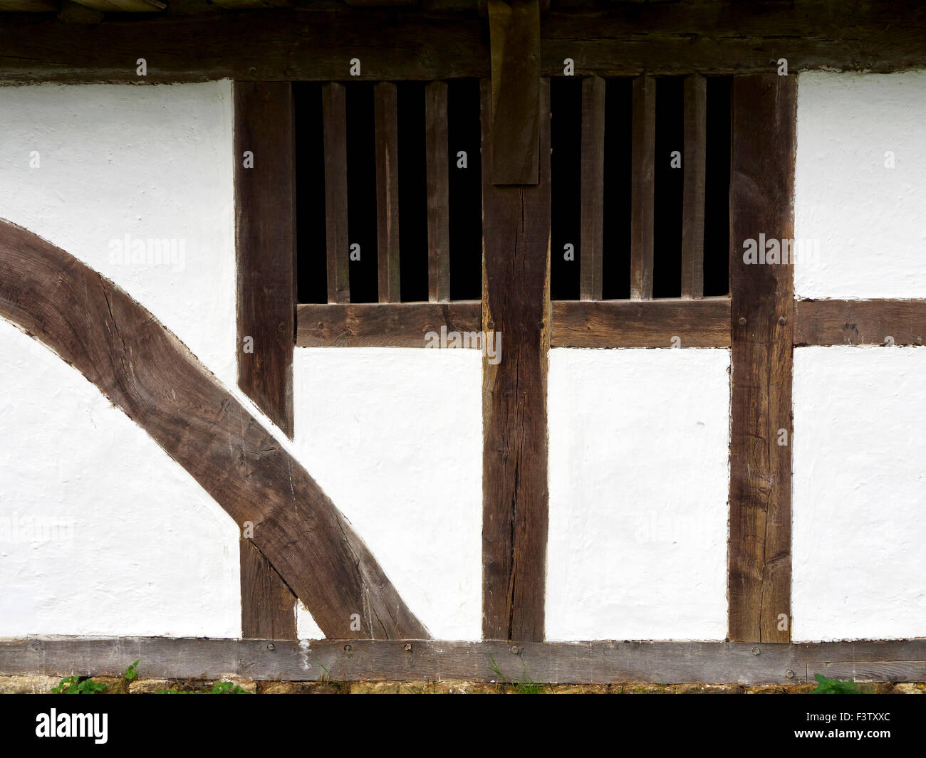 Anfang des 15. Jahrhunderts Fachwerk-Yeoman Bauernhaus mit Holz ...