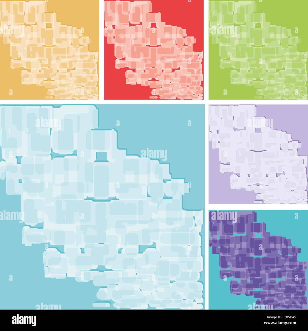 Reihe von abstrakten Hintergründen Stockbild