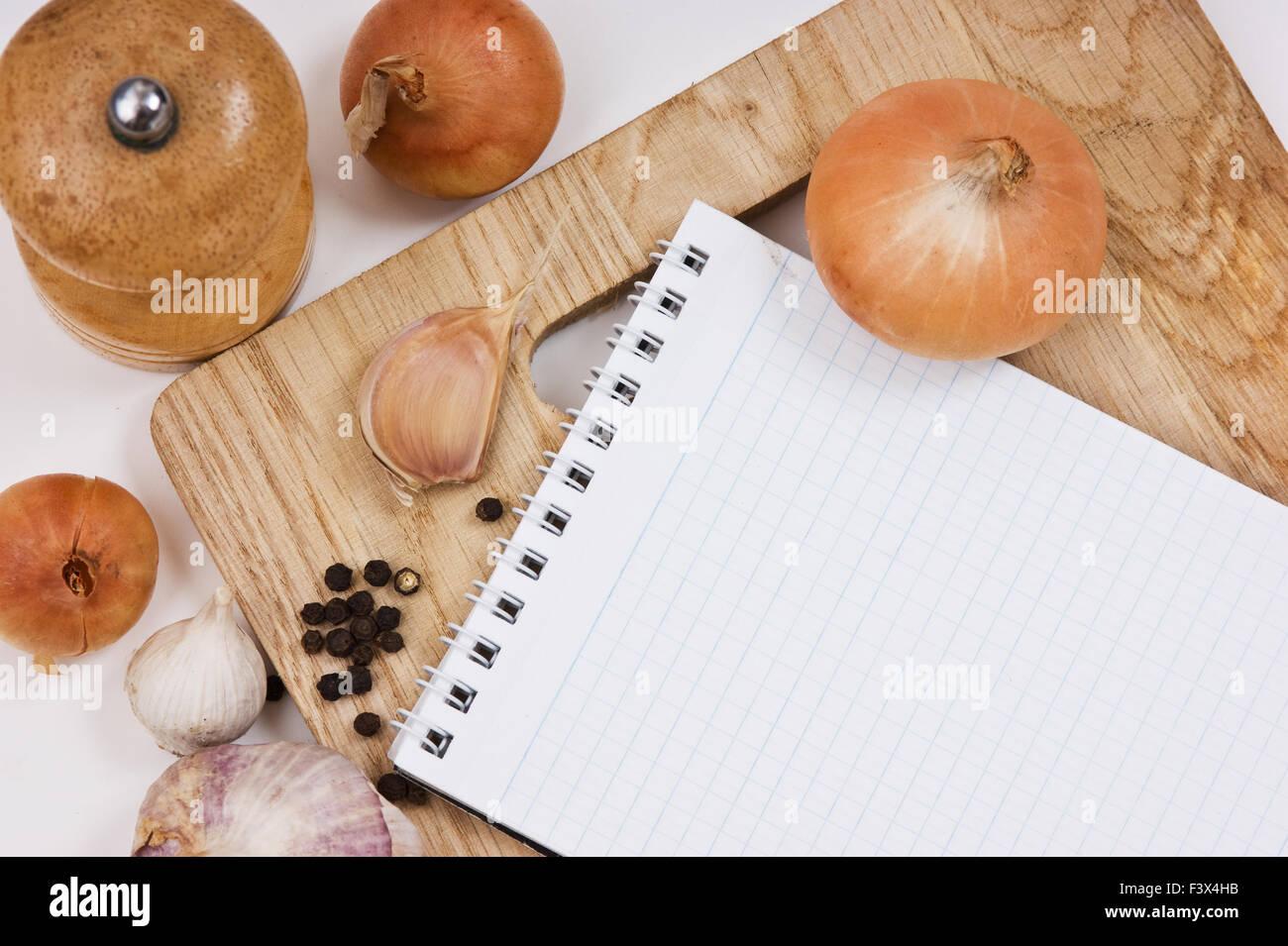 Notebook für kulinarische Rezepte Stockbild