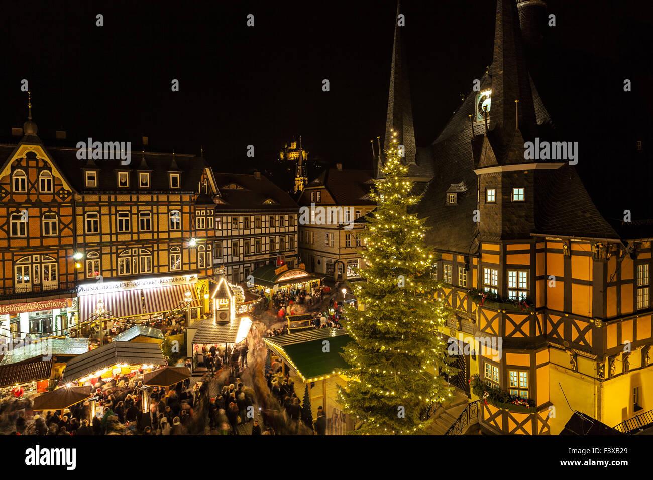 Weihnachtsmarkt in Deutschland Stockbild