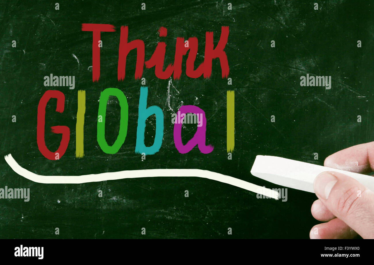 denke global Konzept Stockbild