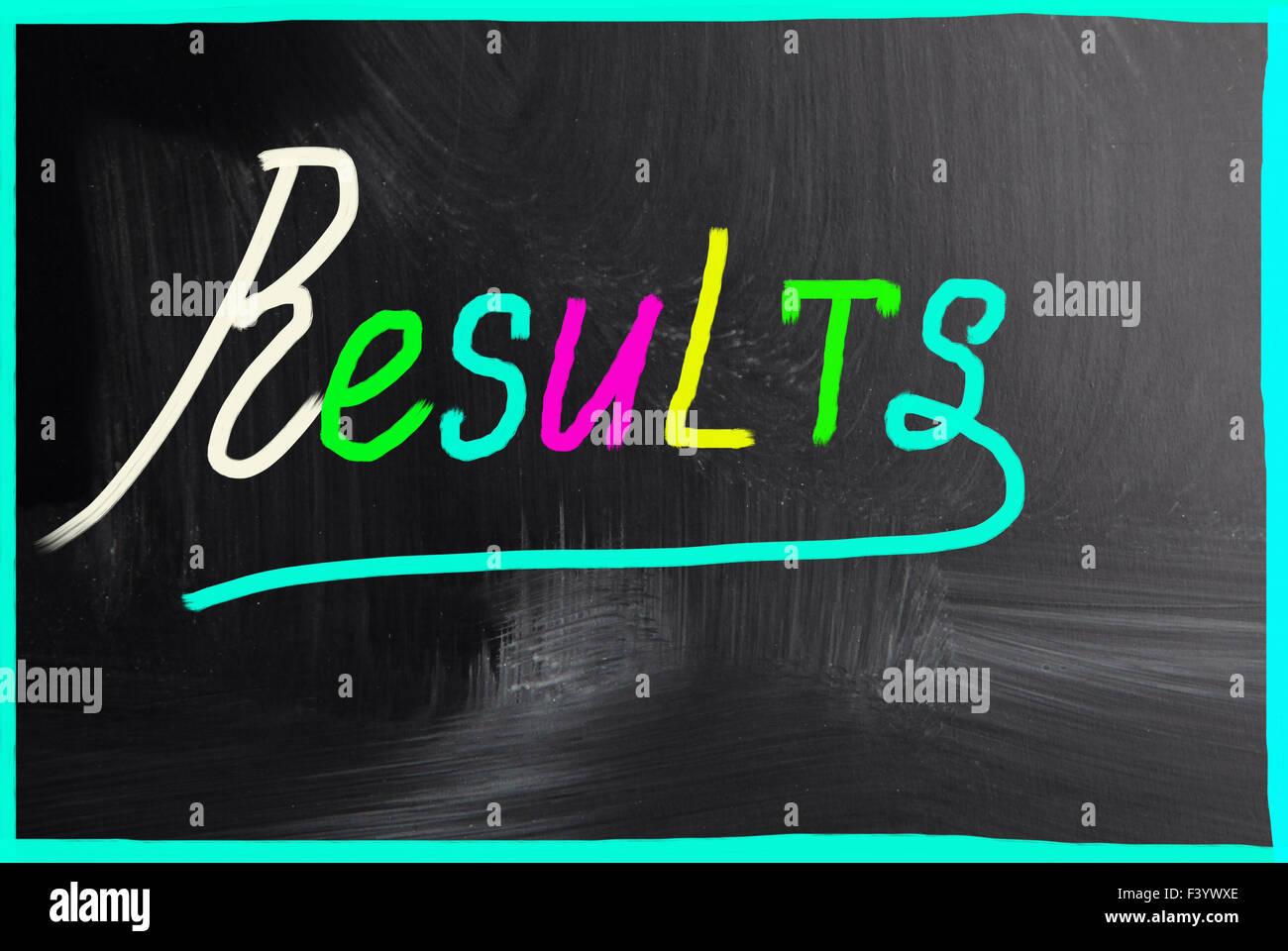 Ergebnisse-Konzept Stockbild