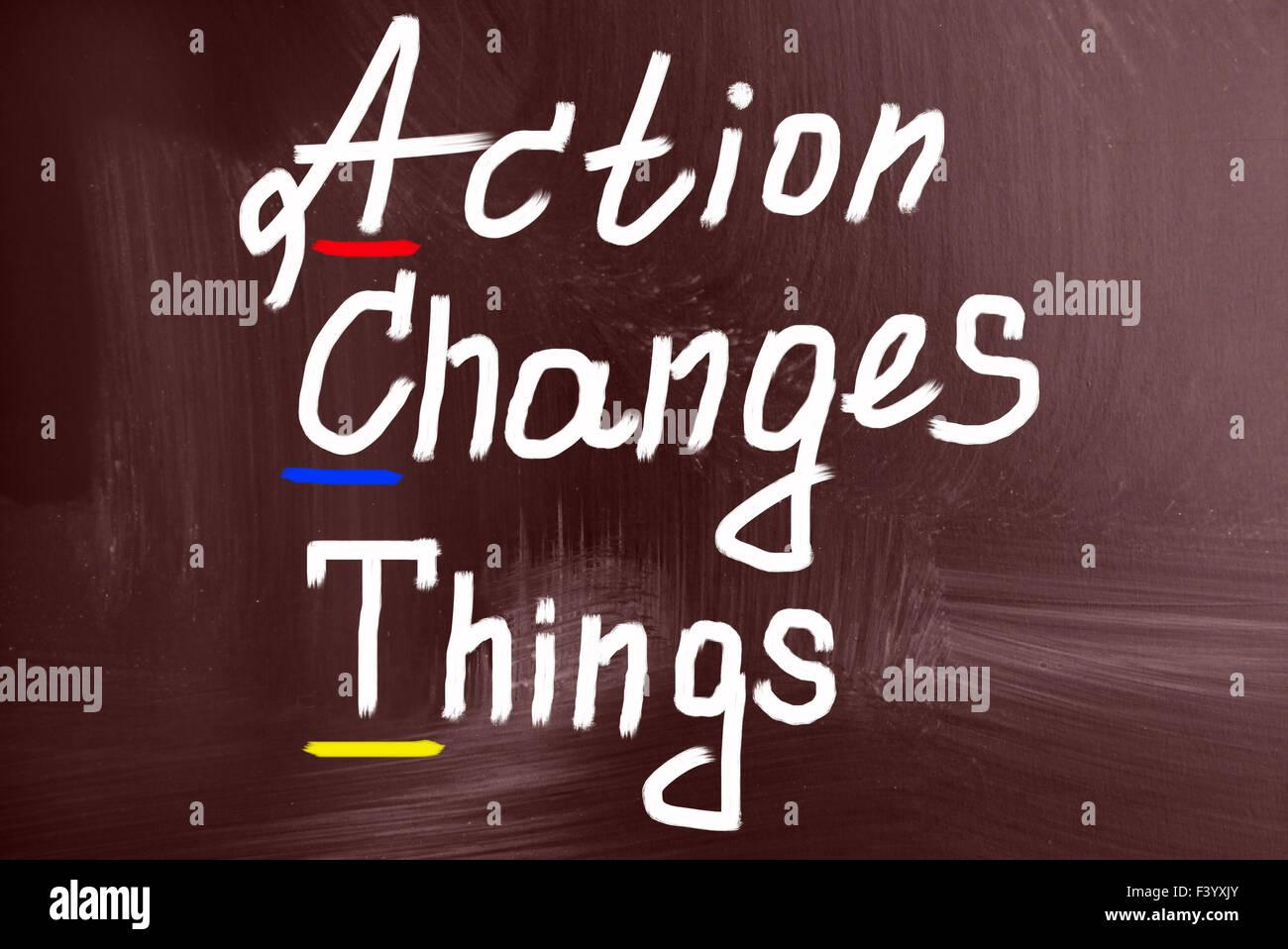Handlungskonzept ändern Dinge Stockbild