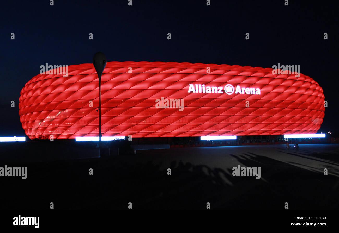 Neue LED-Beleuchtung für die Allianz Arena für FC Bayern München wo ...
