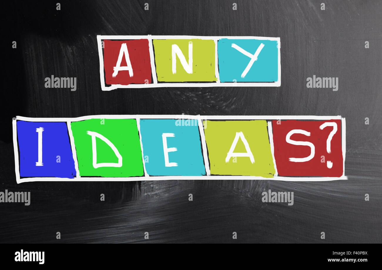 irgendwelche Ideen-Konzept Stockbild