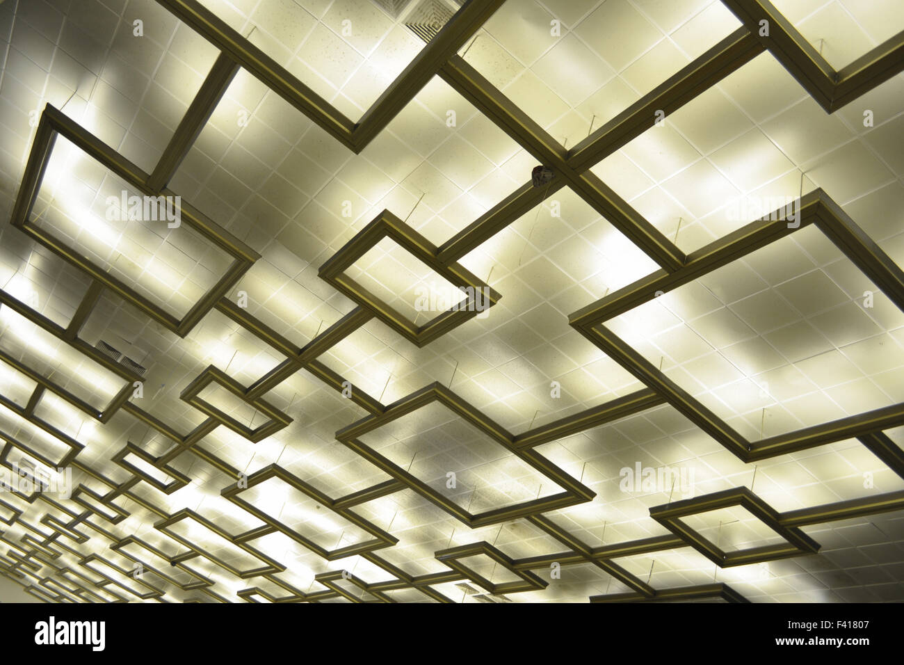Decke Beleuchtung Stockbild