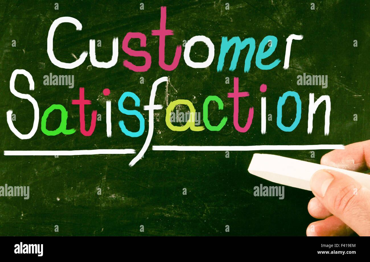 die Zufriedenheit der Kunden Stockbild
