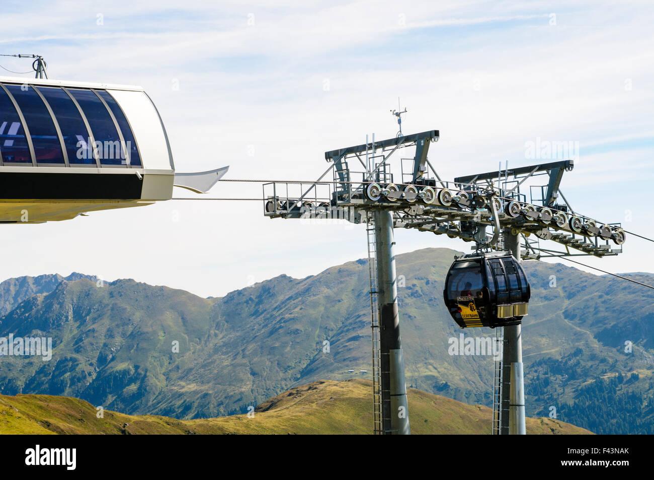 Konigsleiten Berggipfel. Seilbahn-Zillertal, Tirol, Österreich Stockbild