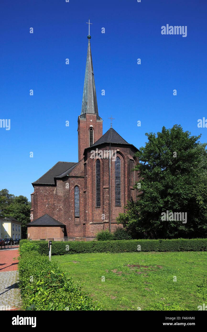 Katholische Josefskirche in Moers, Niederrhein, Nordrhein