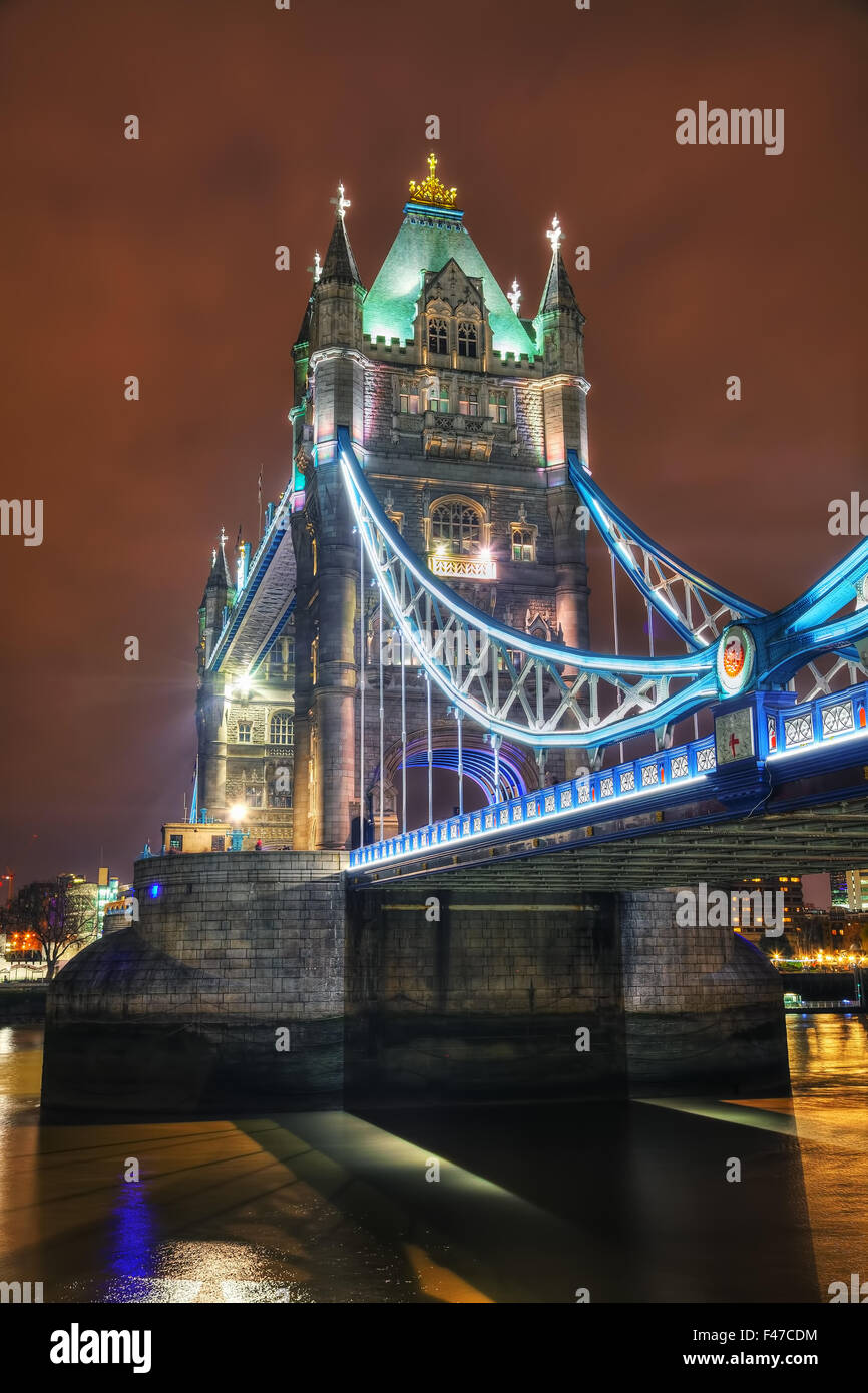 Tower Bridge in London, Großbritannien Stockbild