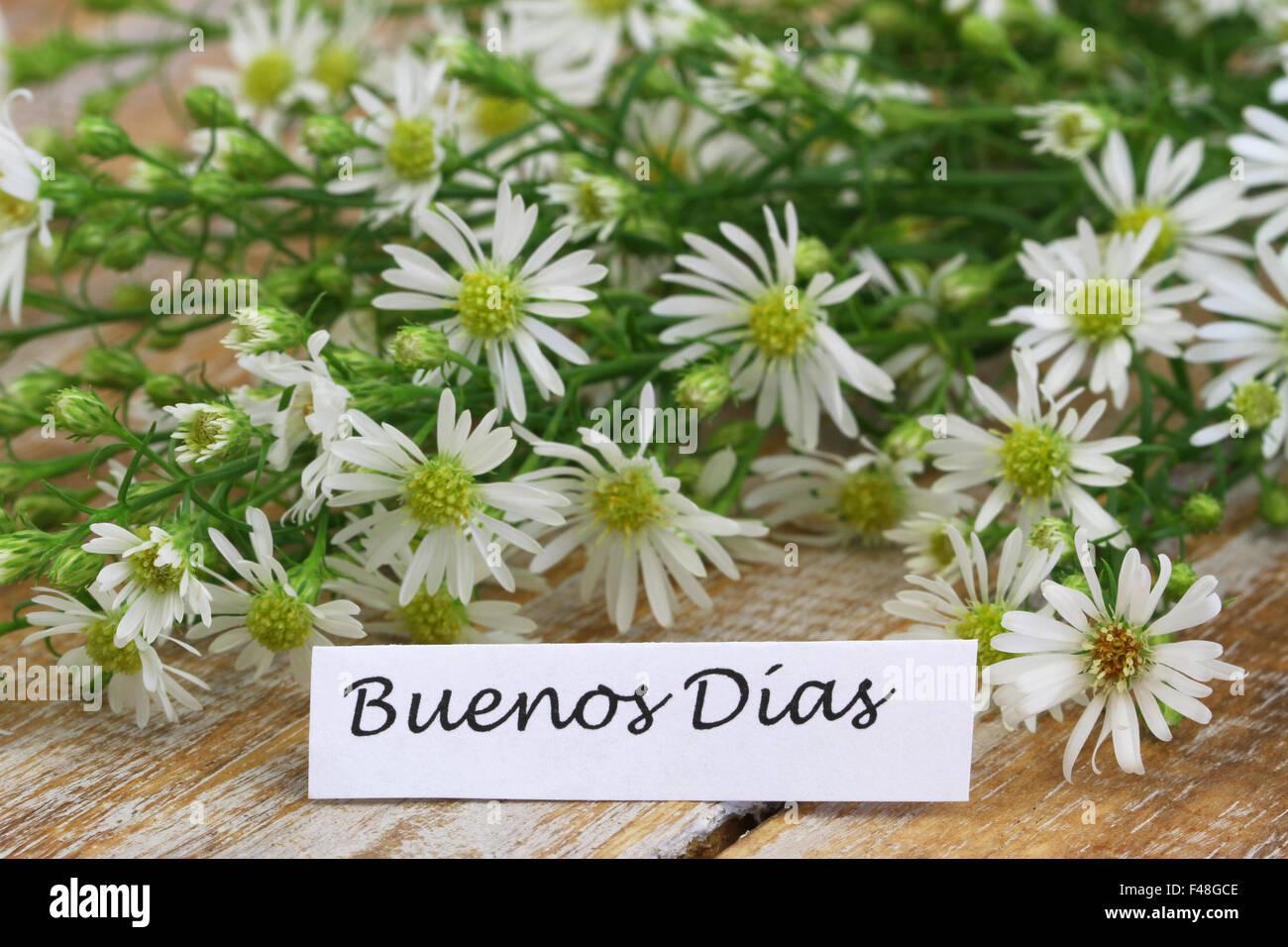 Buenos Dias Dh Guten Morgen In Spanisch Mit
