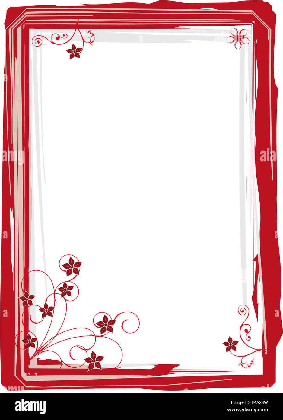 roter Rahmen Blume Stockfoto, Bild: 88750477 - Alamy