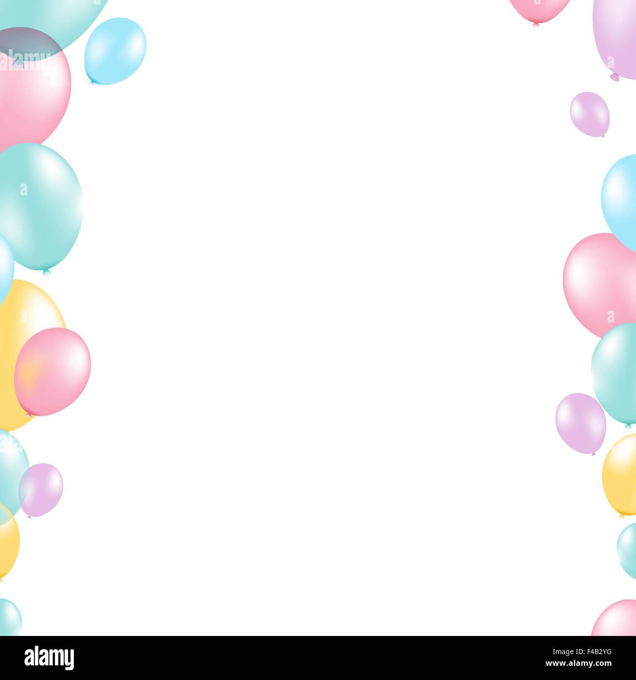 Balloon Border Carnival Celebration Stockfotos & Balloon Border ...
