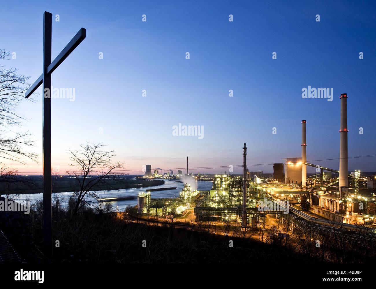 Aussichtspunkt Alsumer Berg, Duisburg, Deutschland. Stockbild