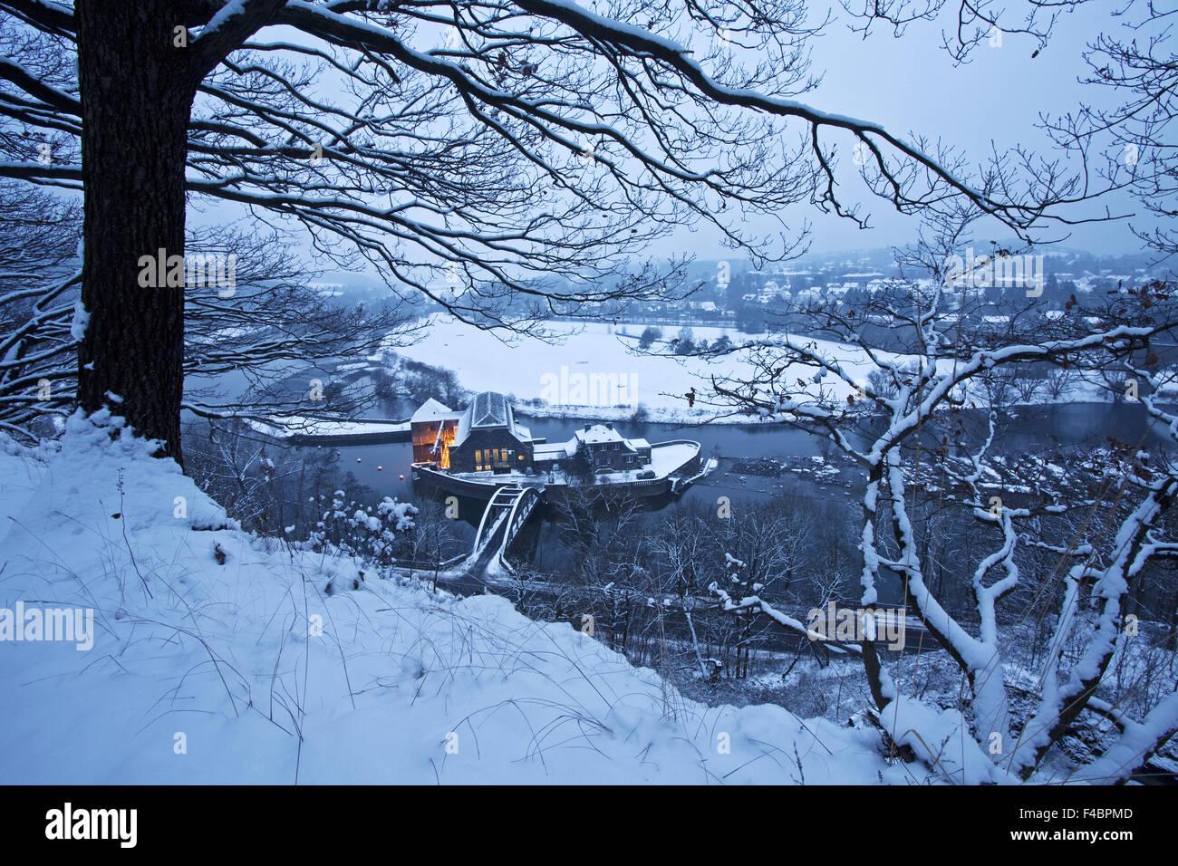 Das Ruhrgebiet im Winter, Witten, Deutschland Stockbild