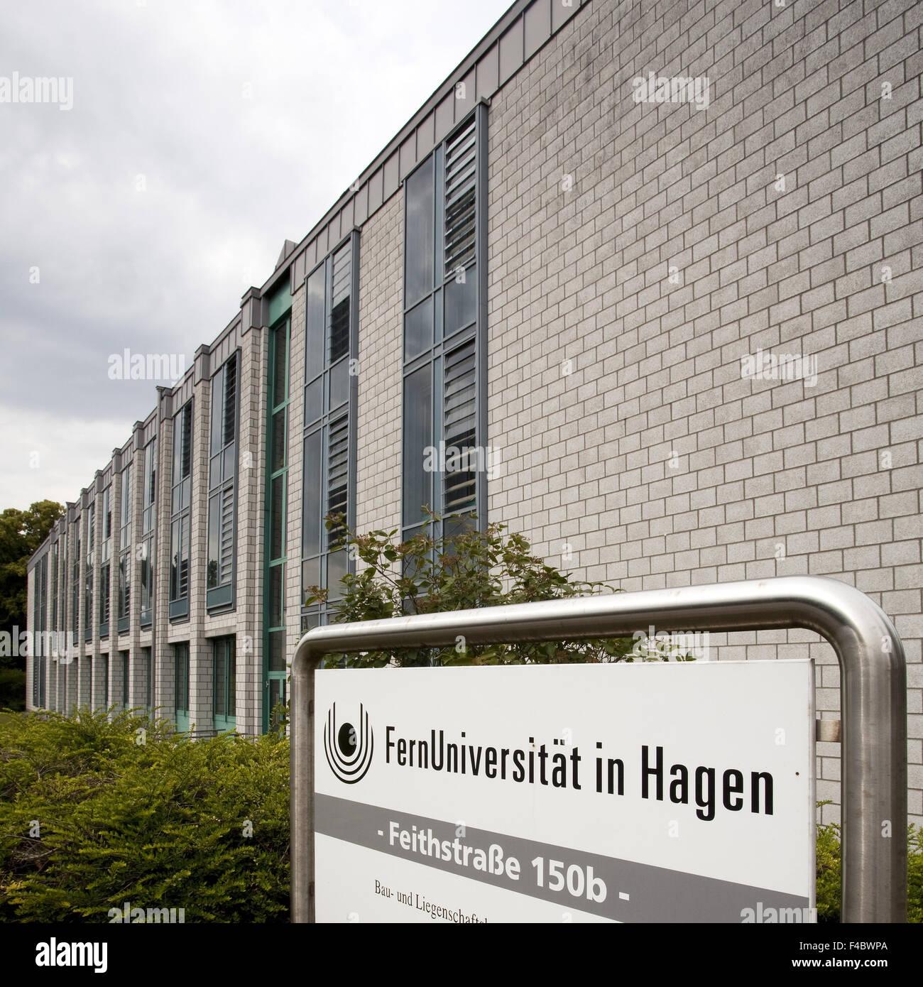 Abstand der Fernuniversität Hagen, Deutschland Stockbild