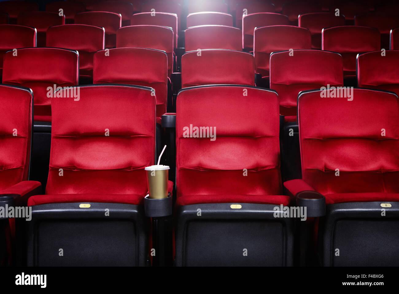 Leeren Kino Stockbild