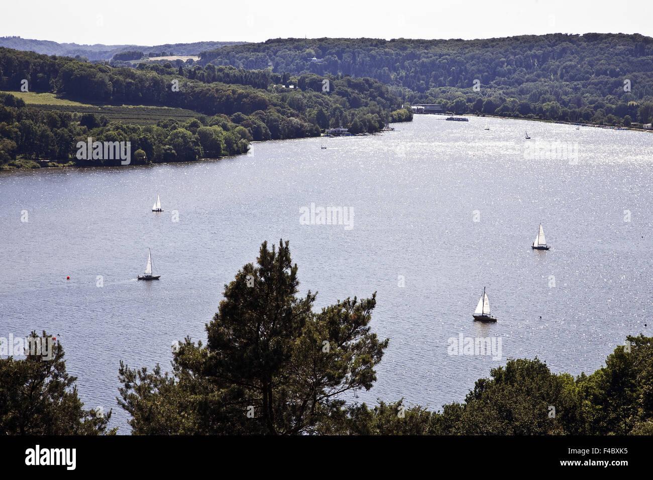 Baldeneysee See, Essen, Deutschland Stockbild