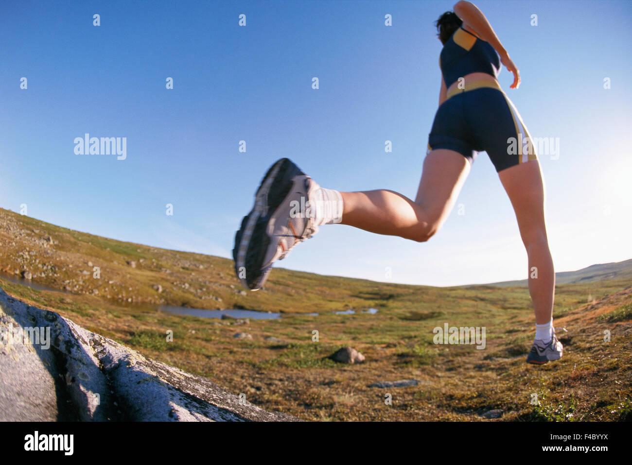 Eine weibliche Jogger. Stockbild