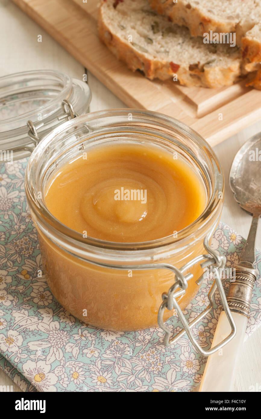 Manuka Honig produziert aus dem Nektar der Manuka oder Tee-Baum in Neuseeland und Australien. Stockbild