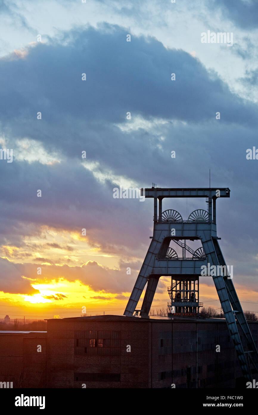 Fördergerüst Zeche Ewald, Herten, Deutschland Stockfoto