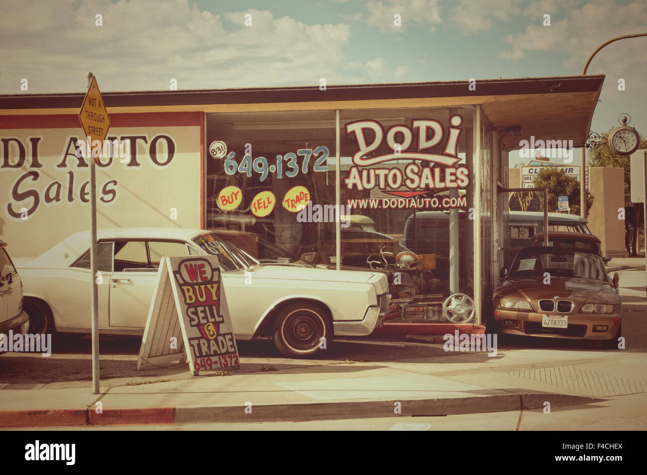 Dodi Auto Verkauf Monterey Kalifornien USA Stockbild
