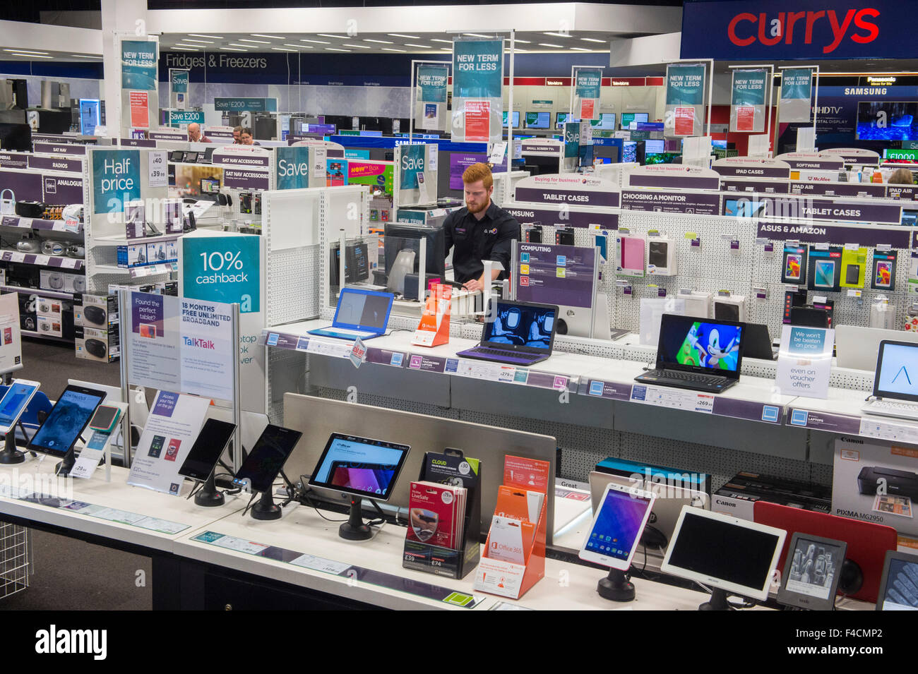 Curry Digital bei Bradford Forster Quadrat Retail Park. Ein British Land PLC-Retail-Immobilien. Stockbild
