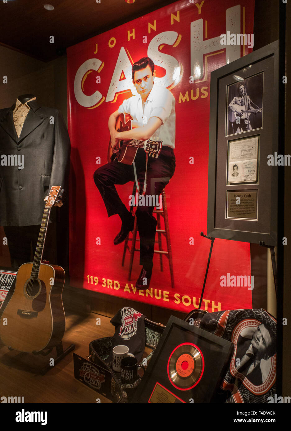 Johnny Cash Museum in Nashville Tennessee Stockbild