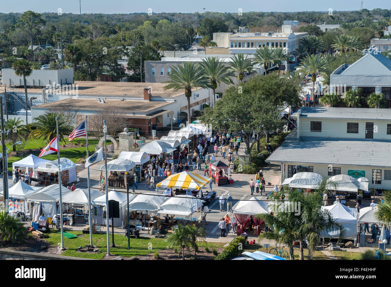 USA, Florida, New Smyrna Beach, Bilder Kunst zu zeigen. Stockbild