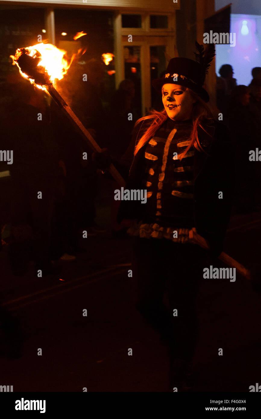 Bonfire Night feiern in Hailsham, East Sussex, Großbritannien Stockbild
