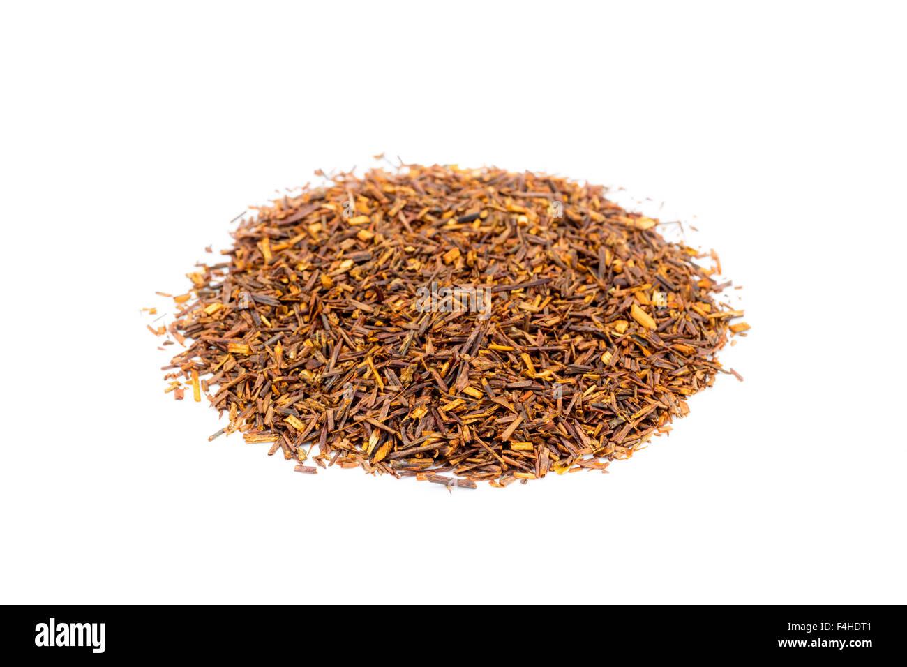 Stapel Von Losen Sudafrikanischen Roten Tee Oder Tee Isoliert Auf