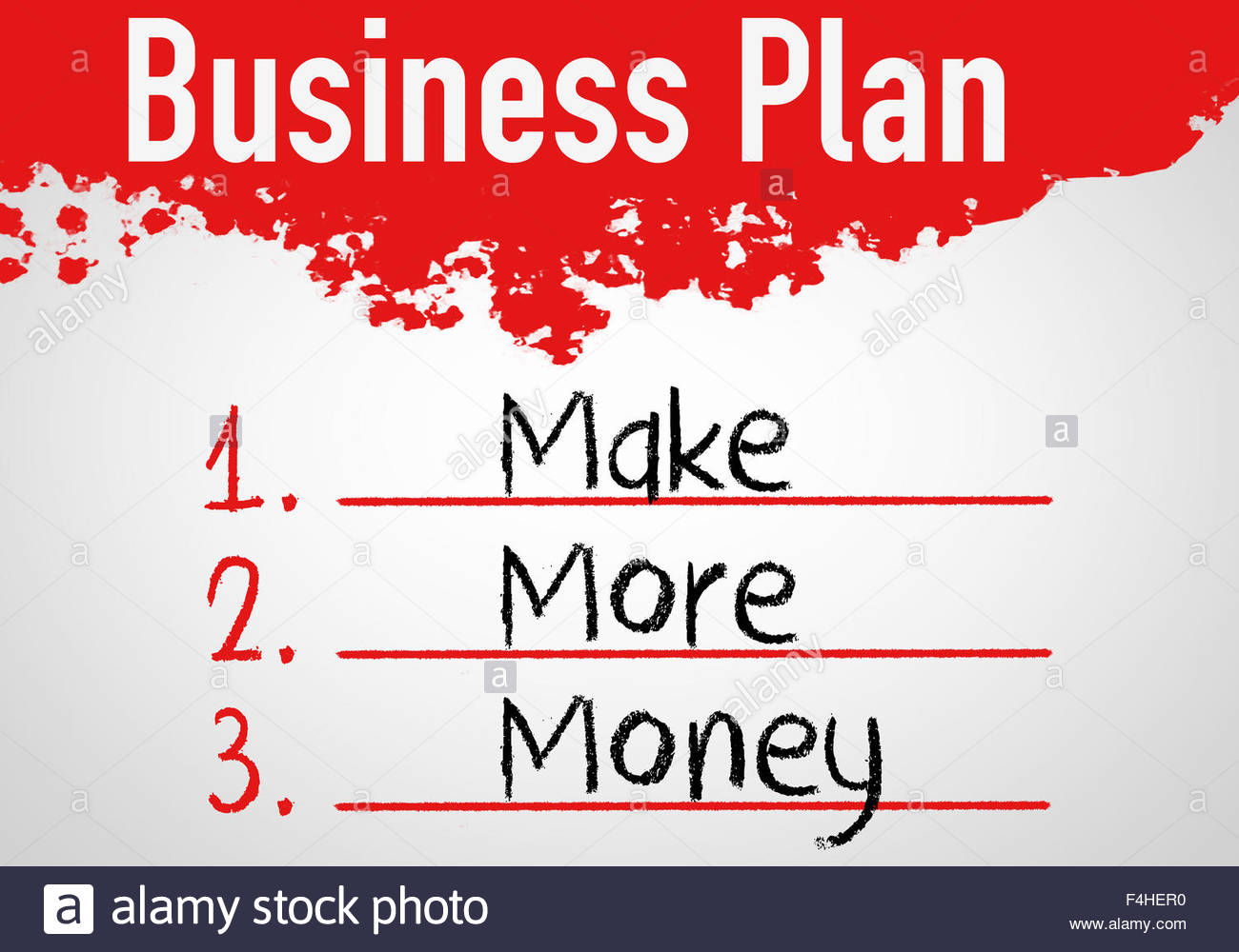 Business-Plan-Konzept Stockbild