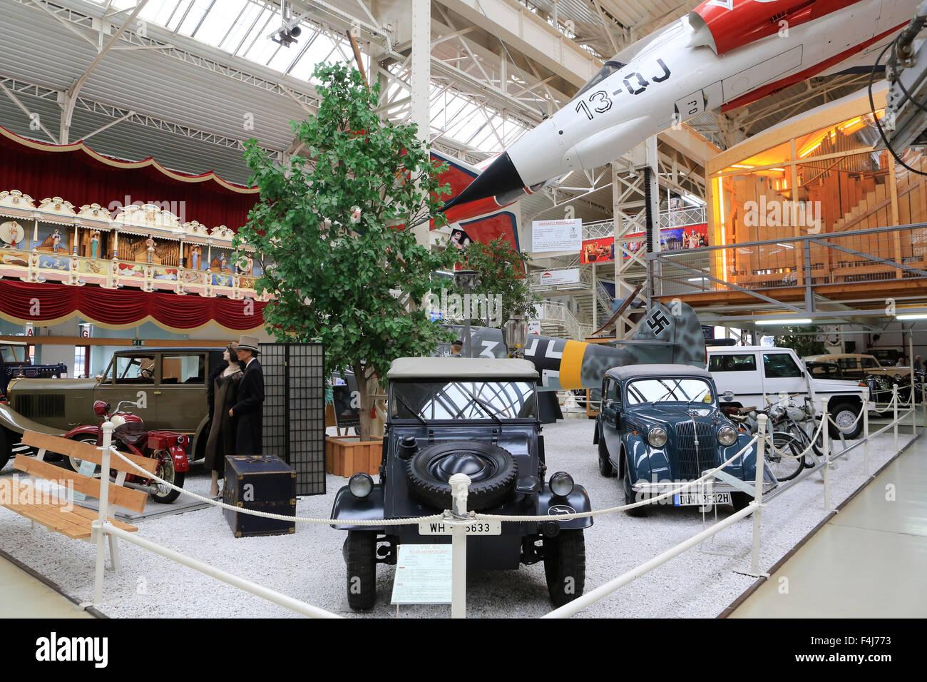 Alte Autos ausstellen, Technik Museum Speyer, Rheinland-Pfalz, Deutschland, Europa Stockbild