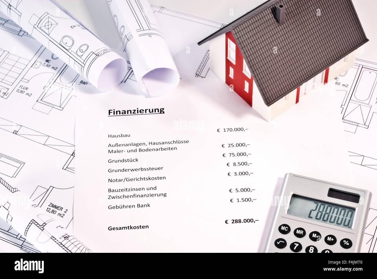 Finanzierung einer Immobilie Stockbild