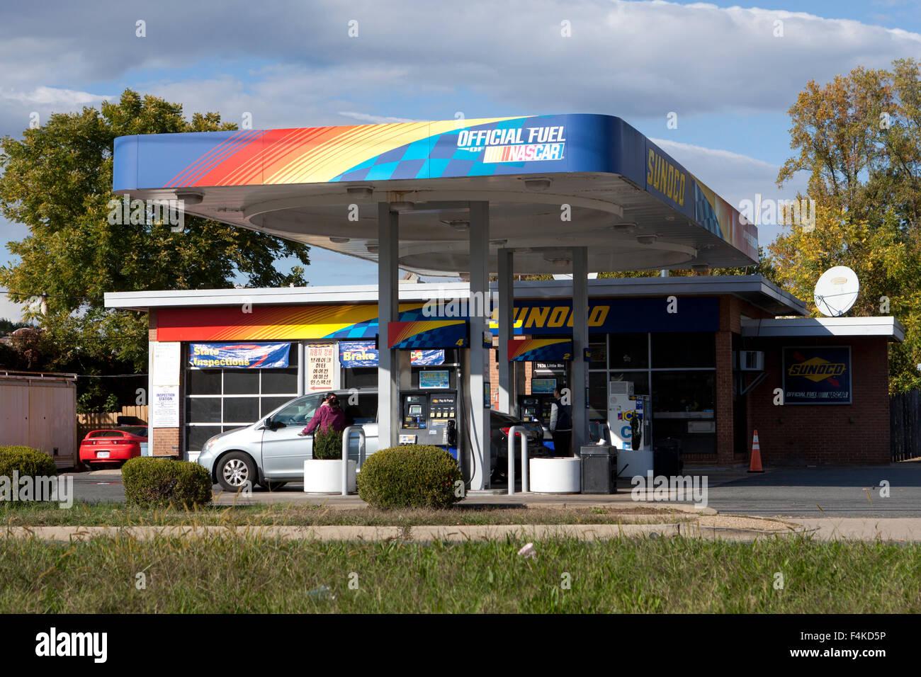 Sunoco Tankstelle - Virginia USA Stockbild