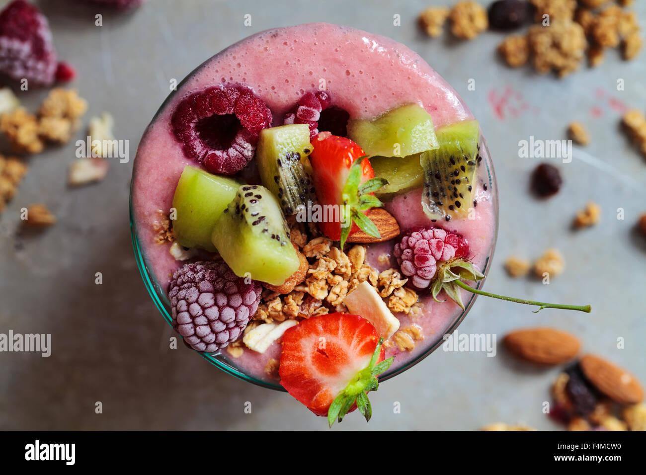 Gemischtes Frucht-smoothie Stockbild