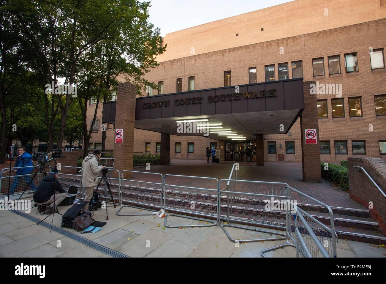 Allgemeine Ansicht GV von Southwark Crown Court Stockbild