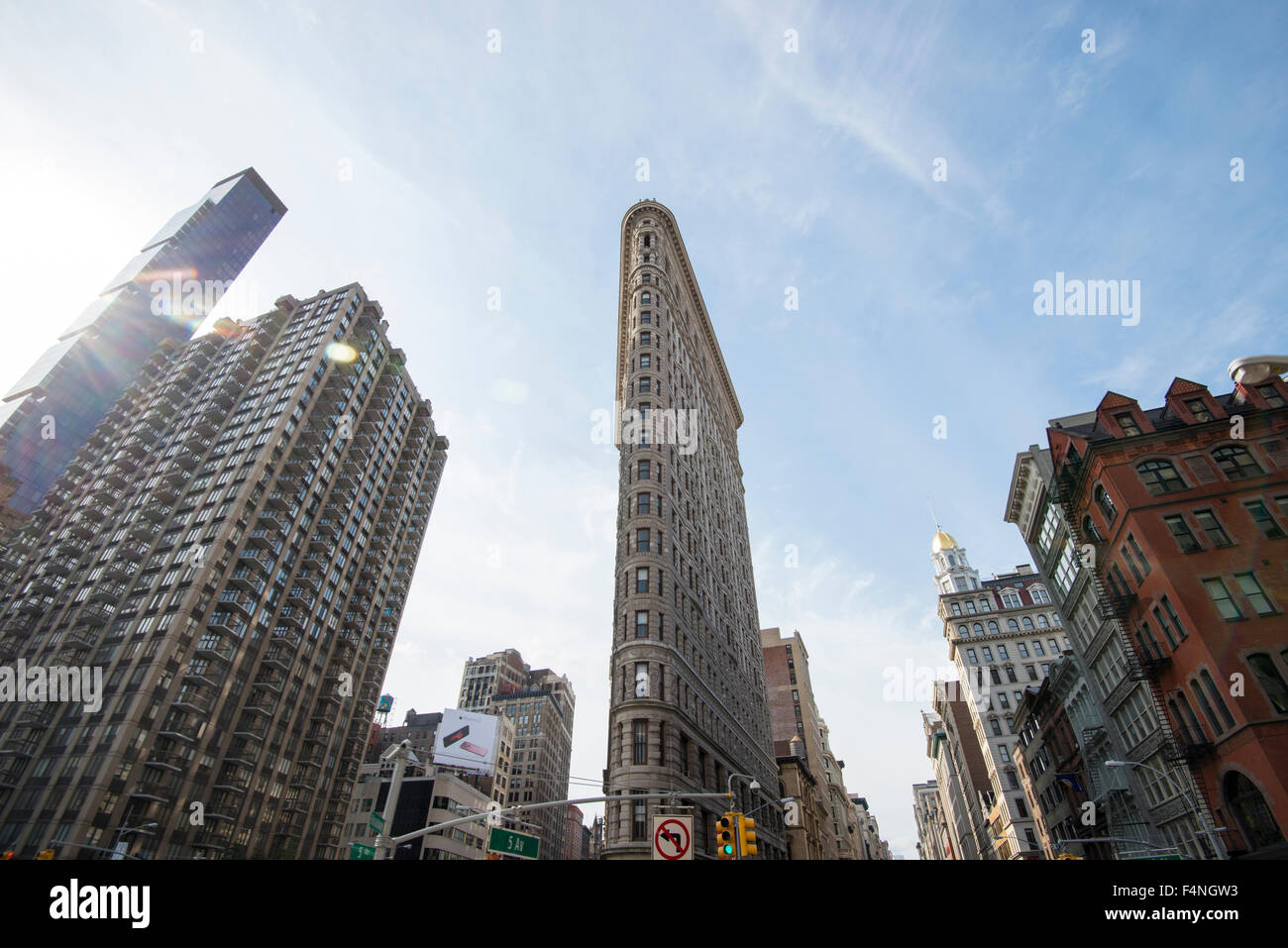 Das berühmte Flatiron Building in Manhattan, New York City, USA Stockbild