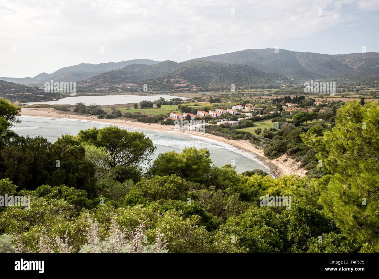 Setti Bellas Strand Sardinien Italien Stockbild
